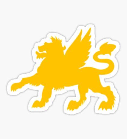 Winged lion VRS2 Sticker