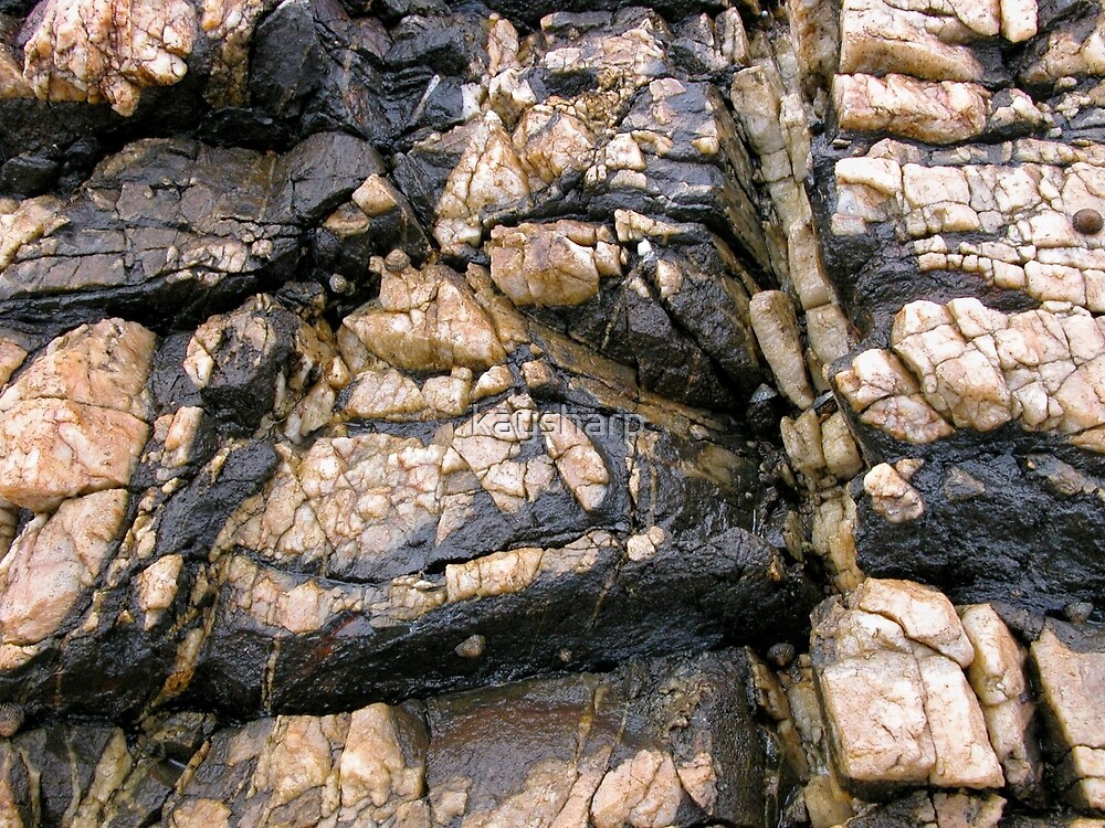 Rock Art, Sulphur Rocks, Northern Tasmania, Australia. by kaysharp