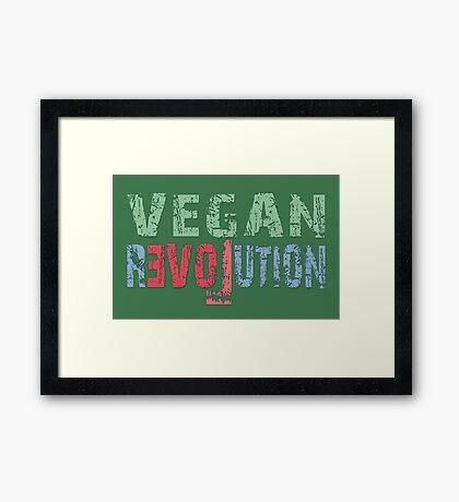 VEGAN REVOLUTION - vegan, vegetarian, animal rights, cruelty to animals Framed Print