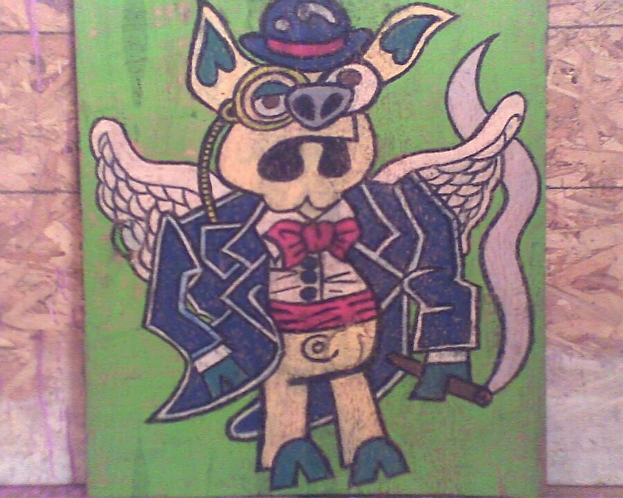 Piggy's Fly by EverittDunn