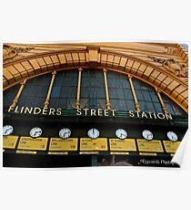Flinders Street Station Melbourne 2 Poster