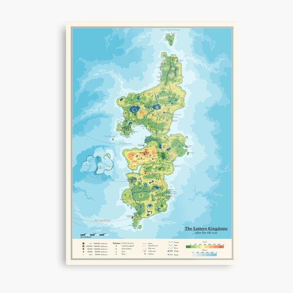 Detailed Eastern Kingdoms map Metal Print