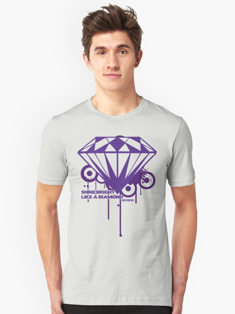 Shine Bright Like a Diamond! in Luxury!! For Men or Woman :D Unisex T-Shirt Front