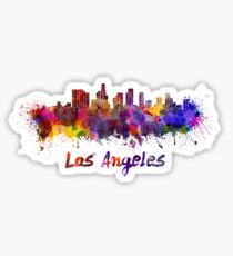 Los Angeles skyline in watercolor Sticker