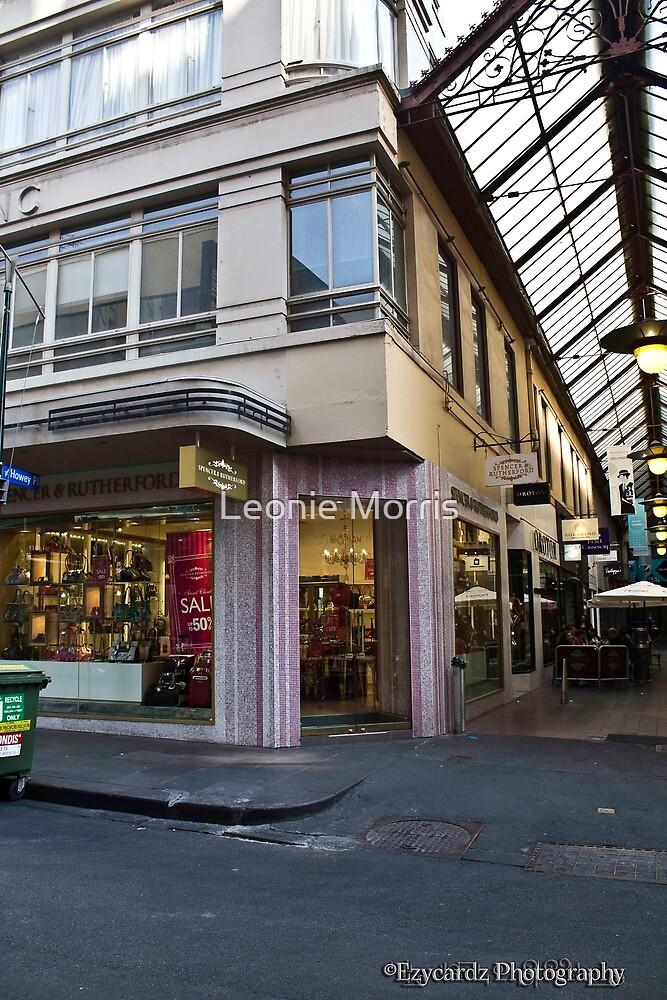 Little Bourke Street Melbourne 2 by Leonie Morris