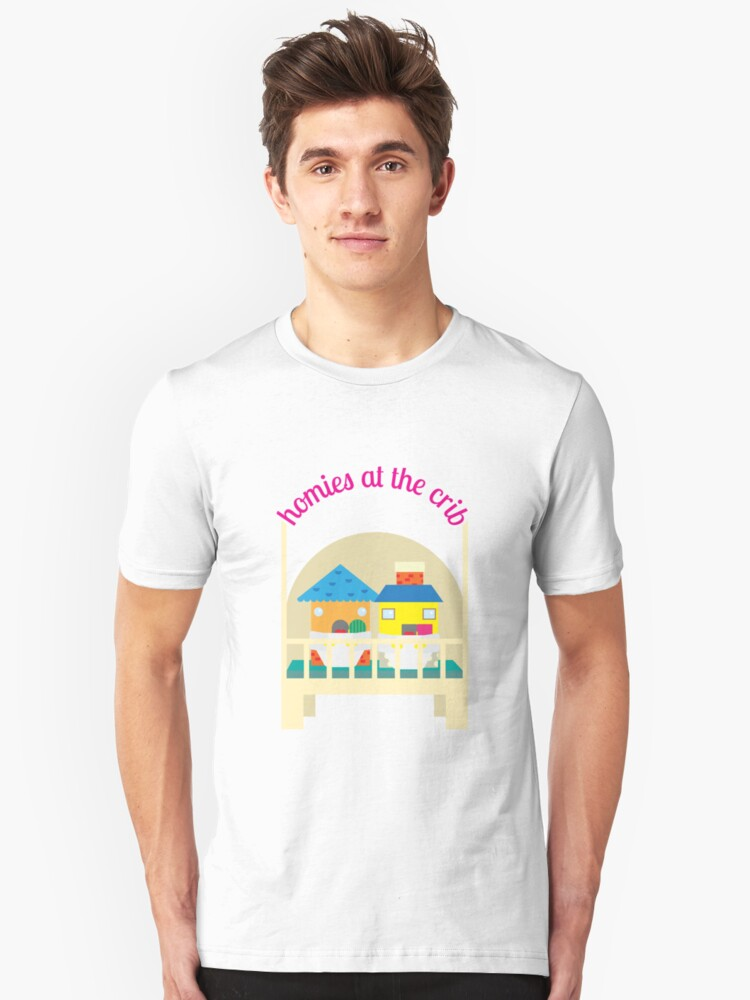 homies at the crib Unisex T-Shirt Front