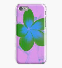 Green Plumeria  iPhone Case/Skin