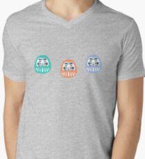 Daruma  Men's V-Neck T-Shirt