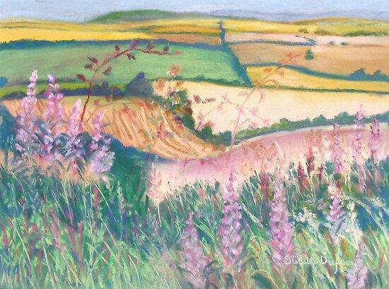 Godmanstone Hillside by Susan Scott