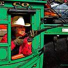 Grandma Riding Shotgun by Larry Costales