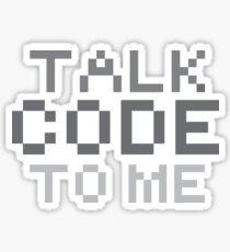 Talk code to me Sticker