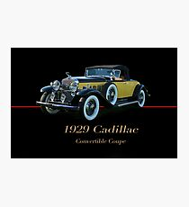 1929 Cadillac Convertible Coupe Photographic Print