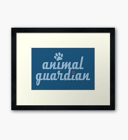 animal guardian - animal cruelty, vegan, activist, abuse Framed Print
