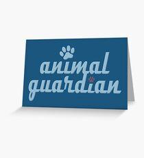 Tierwächter - Tierquälerei, Veganer, Aktivist, Missbrauch Grußkarte