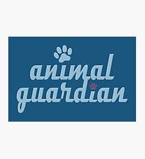 Tierwächter - Tierquälerei, Veganer, Aktivist, Missbrauch Fotodruck
