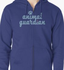 animal guardian - animal cruelty, vegan, activist, abuse Zipped Hoodie