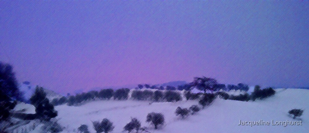 Early Morning Pink and Blue Sky by Jacqueline Longhurst