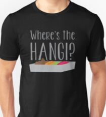 Wheres the HANGI? (New Zealand) KIWI food cooked in a pit T-Shirt