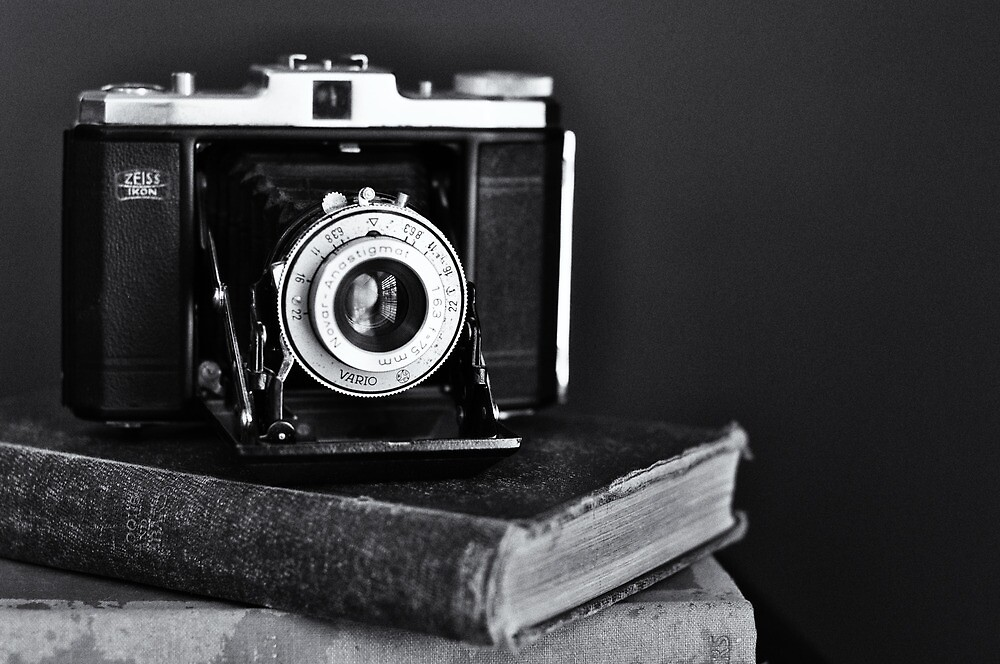 Old Camera, Old Books by Sarah Thompson-Akers
