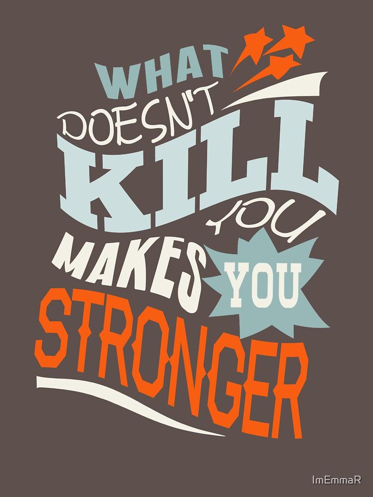 Stronger- KELLY CLARKSON Lyric Shirt *BLUE/ORANGE* by ImEmmaR