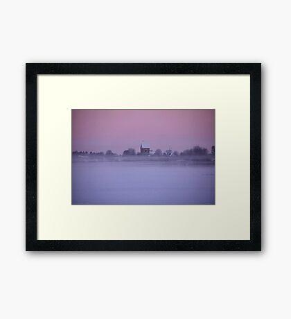 Floating church Framed Print