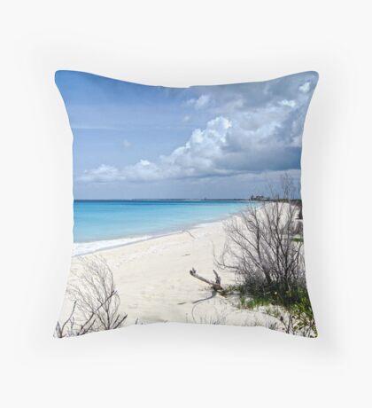 13 mile beach in Barbuda Throw Pillow