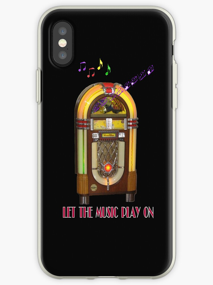 Let the Music Play On iPhone Case by Catherine Hamilton-Veal  ©