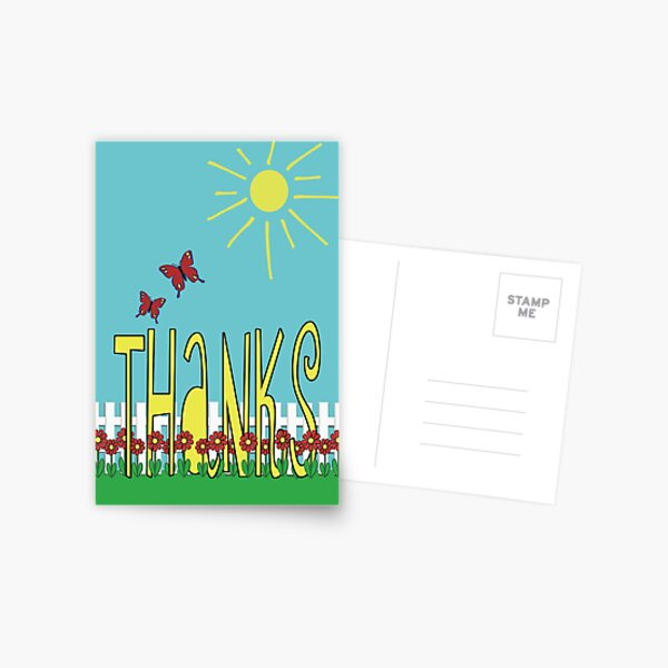 Garden Of Thanks Postcard