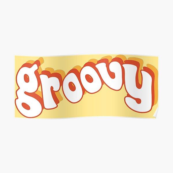 Groovy Retro Orange and Yellow Poster