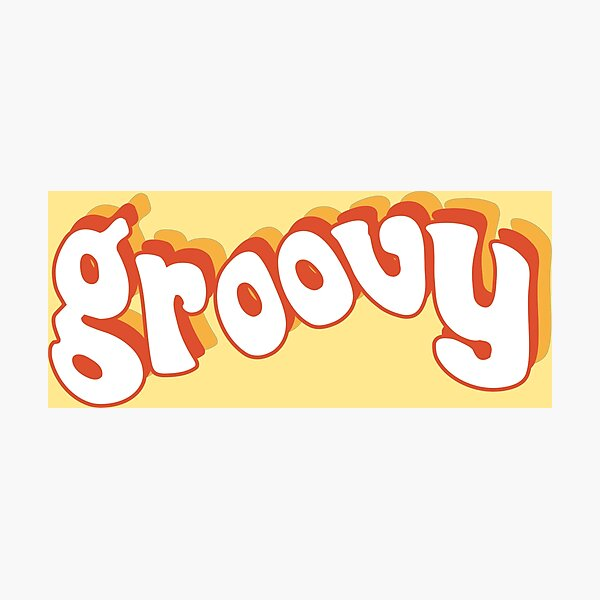 Groovy Retro Orange and Yellow Photographic Print