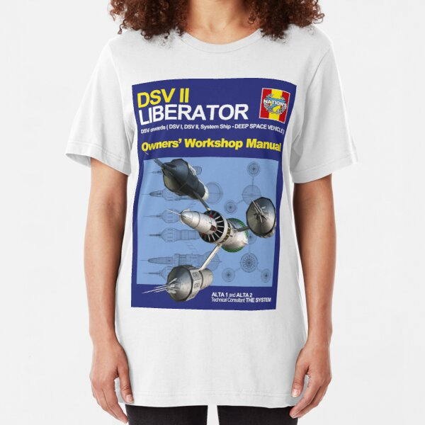 Blake's 7 Liberator  Slim Fit T-Shirt