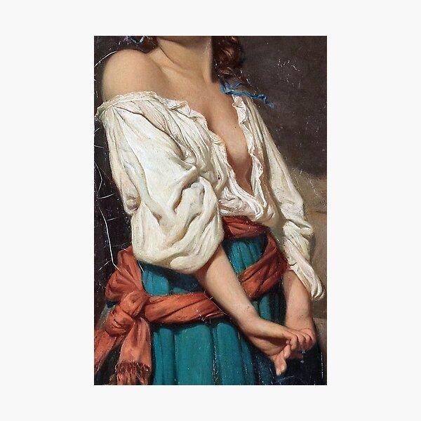 Ung kvinna i landskap by Charles Zacharie Landelle - Cropped Photographic Print