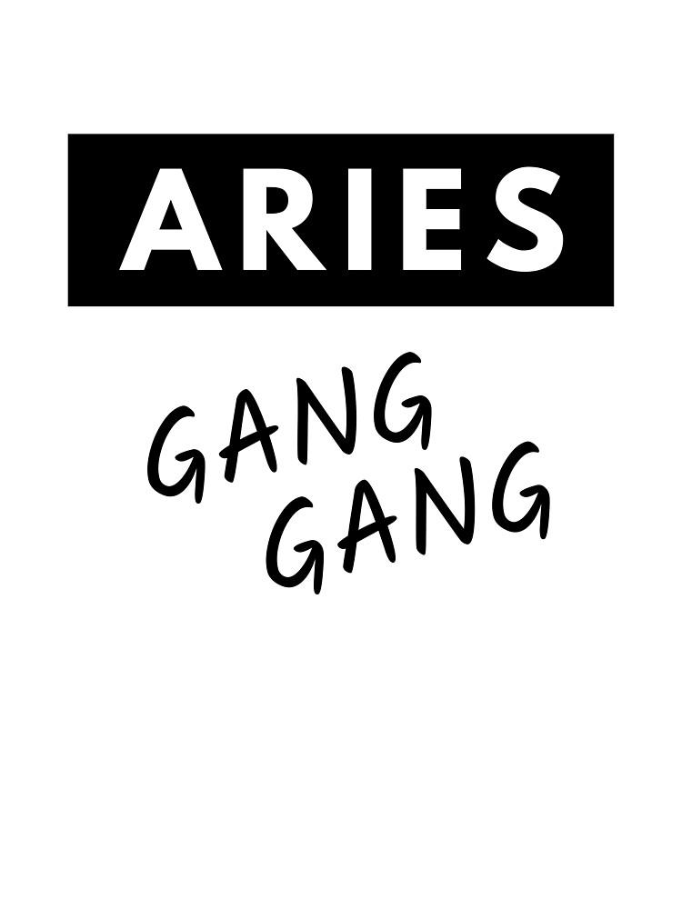 "Aries Gang Gang"" Kids T-Shirt by TrueCrew | Redbubble"