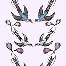 Racket Tailed Humming Bird Pattern by samclaire