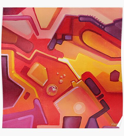 Plasticon - Abstract Acrylic Canvas Painting Poster