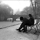Getting her Skates on, Cambridge, 1962 by NevilleNewman