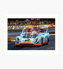Porsche 917 at Le Mans Art Print