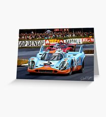 Porsche 917 at Le Mans Greeting Card