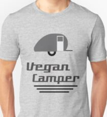Vegan Camper in Black Unisex T-Shirt