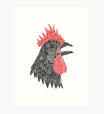Cock-A-Doodle Art Print