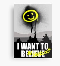 I want to believe in SHERLOCK Metal Print