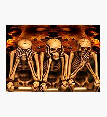 see no evil, hear no evil... Photographic Print