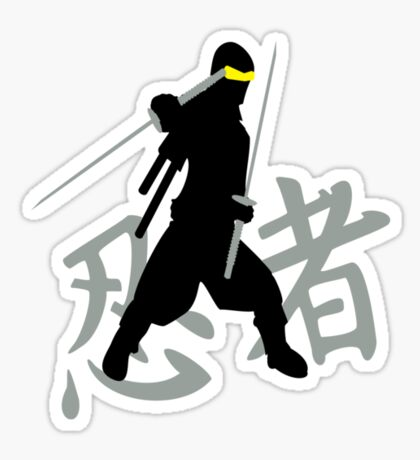 Kanji Ninja VRS2 Sticker