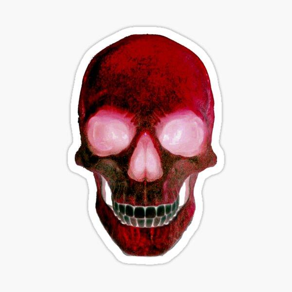 Red Skull Sticker