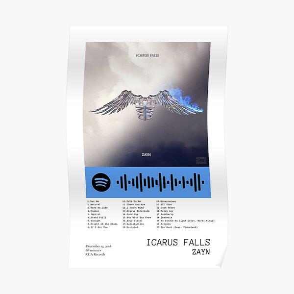 ZAYN Icarus Falls Portada del álbum y lista de canciones Póster