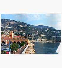 Villefranche Waterfront Poster