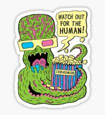Alien Monster Movie Sticker