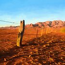 Outback Fence (GO2) by Raymond Warren