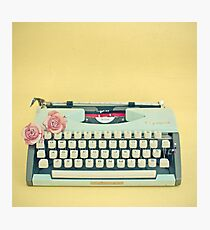 The Typewriter Photographic Print