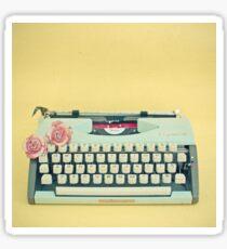The Typewriter Sticker